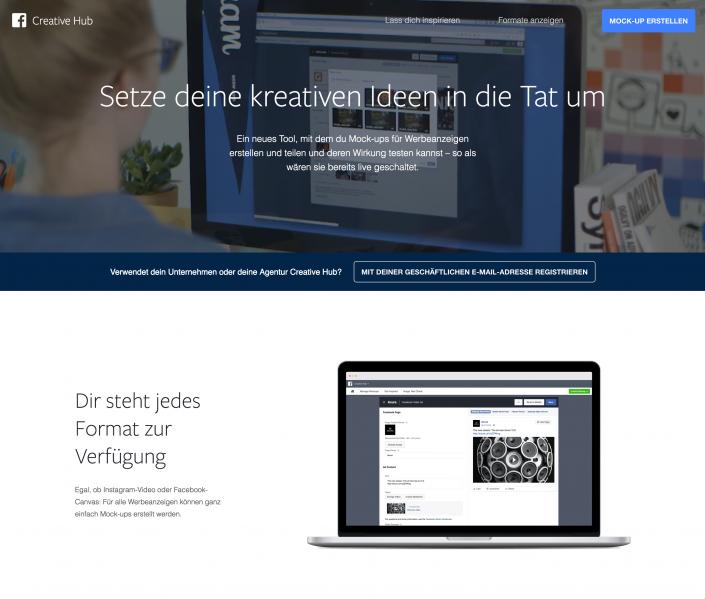 Facebook Creative Hub – Werbeanzeigen im Livesimulator erstellen