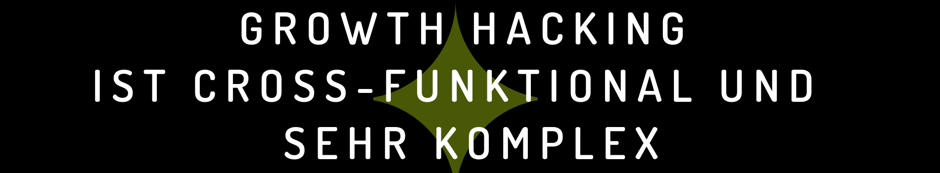 Growth Hack ist cross-funktional | DIGITAL Marketing Expert