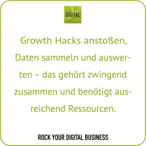 Growth-Hacking-Prozess - Growth Hacks und Ressourcen - Statement Maike Petersen, DIGITAL | ROCK YOUR DIGITAL BUSINESS