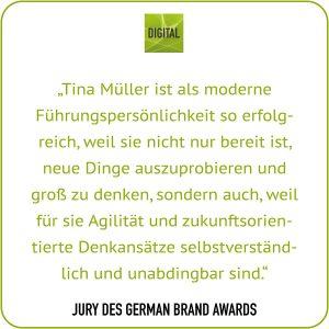 CEO Tina Müller - Statement-Zitat