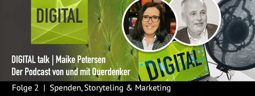 Spenden Podcast DIGITAL talk - Folge #2 | Beitragsbild | Maike Petersen, Querdenker