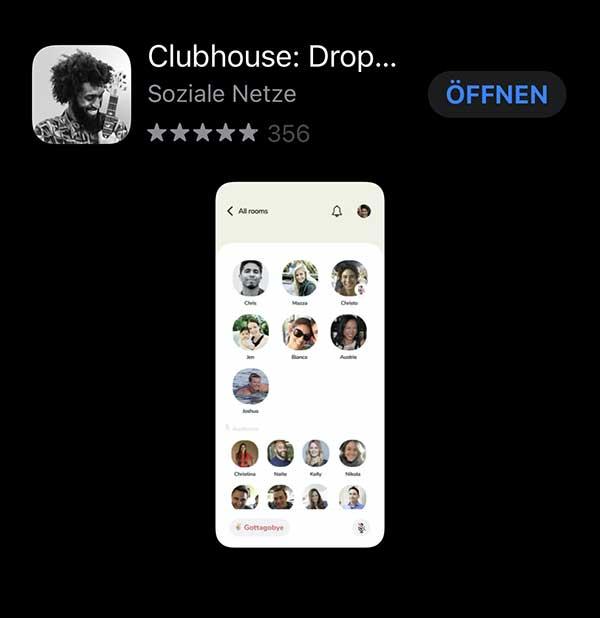 Clubhouse-Invite-DIGITAL-talk-Podcast-Folge-5 - Screenshot App-Store