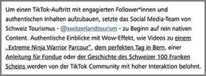 Tiktok-Bsp Schweizer Tourismusiebter