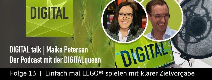 Einfach mal LEGO® spielen | DIGITAL talk Podcast Maike Petersen mit Eva Riedi - Beitragsbild_1200x456
