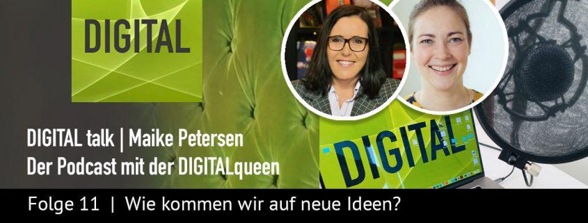 Neue Ideen | DIGITAL talk Podcast Maike Petersen mit Eva Riedi - Beitragsbild_1200x456