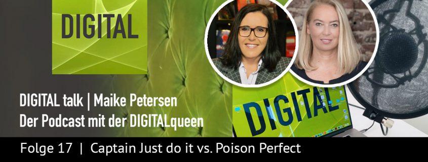 Captain Just do it vs Poison Perfect mit Diane Manz | DIGITAL talk Podcast Maike Petersen - Beitragsbild_1200x456px